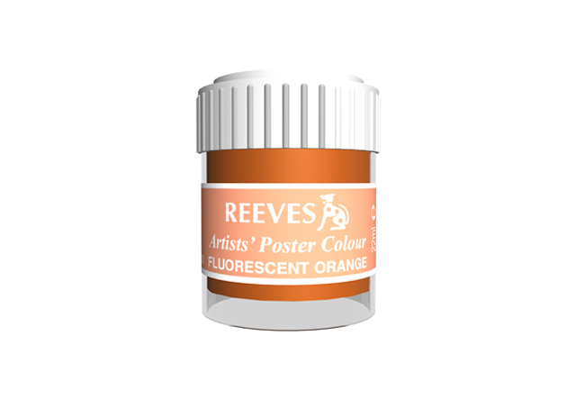 Reeves Poster Color Flourscent Orange 22ml