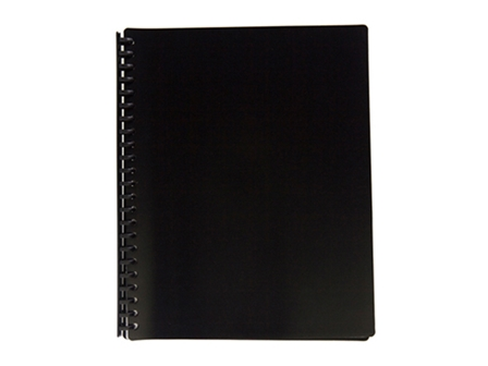 Jodric Clear Book Refillable RB2320 Black 23H  A4 20pcs