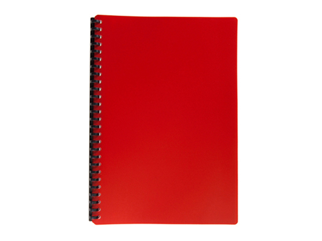 Clear Book Refillable #B2720 Red legal 20pcs