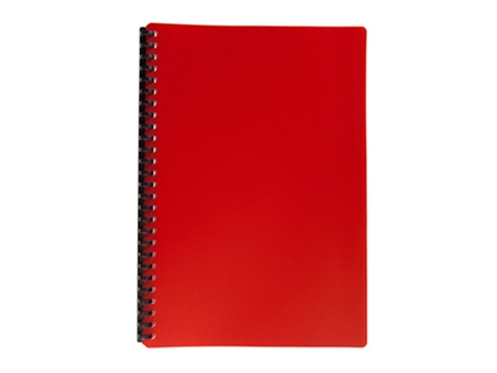 Jodric Clear Book Refillable #B2720 Red legal 20pcs