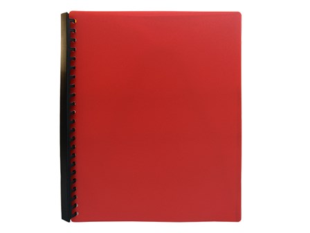 Jodric Clear Book Refillable RB2320 Red A4 20pcs