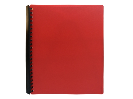 Jodric Clear Book Refillable RB2320 Red A4 20Sheets
