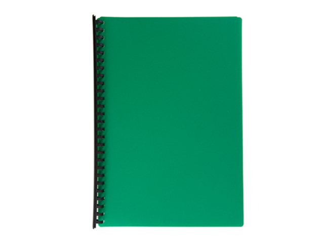 Jodric Clear Book Refillable  #B2720  Green Legal 20pcs