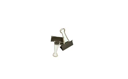 Times Binder Clip Black 2 in.2/pack