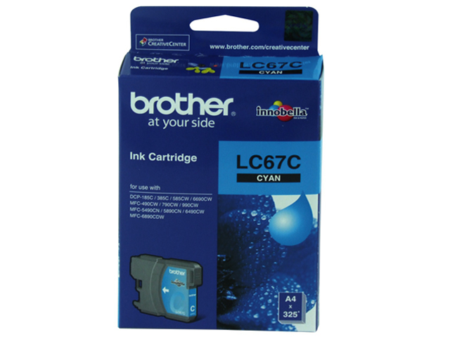 Brother Ink Cartridge LC-67 Cyan