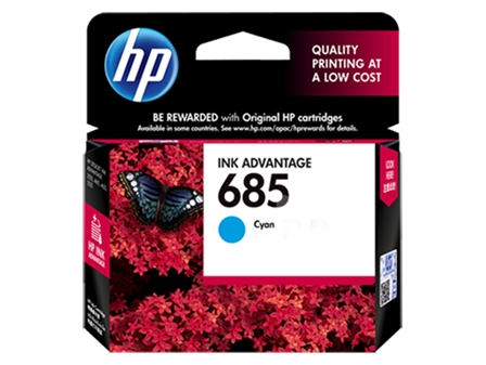 HP 685 Ink Cartridge HPCZ122AA Cyan