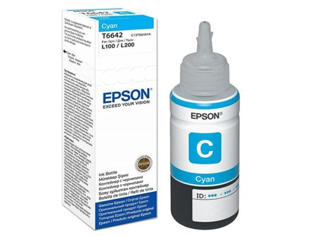 Epson Ink Cartridge C13T664200 Cyan 1 bottle