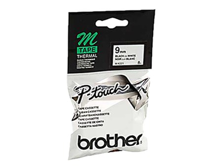 Brother Label Tape MK-221 Black on White 9mm