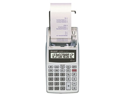 Sharp Printing Calculator EL1611P Handheld 12 Digits