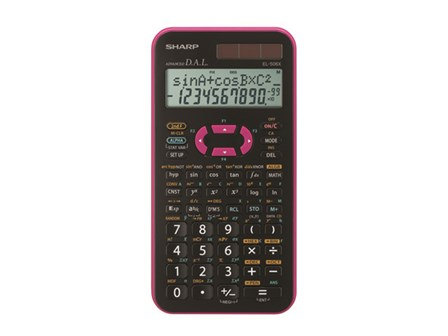 Sharp Scientific Calculator EL-506X-PK Pink 10 Digits