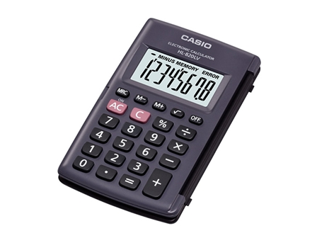 Casio Calculator HL820LV-BK 8 Digits