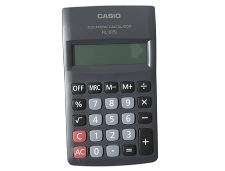 Casio Calculator HL815L-BK-W 8 Digits