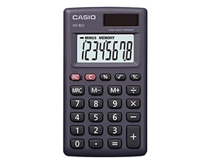 Casio Calculator HS8LV-BK/W 8 Digits
