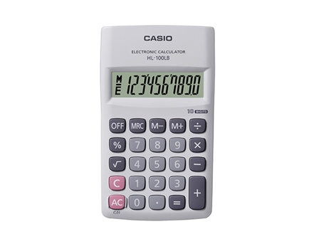 Casio Calculator  HL100LB 10 Digits