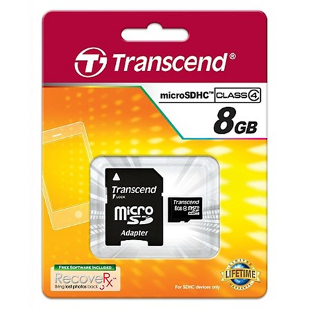 Transcend Micro SD Memory Card 8GB