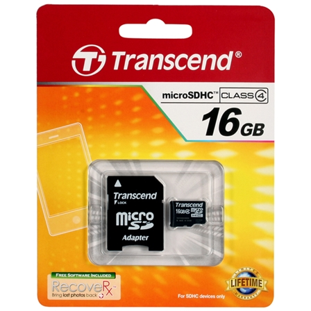 Transcend Micro SD Memory Card Assorted 16GB