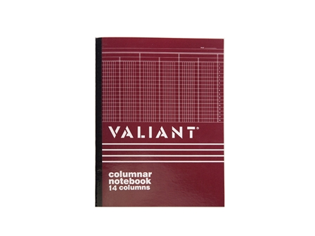 Valiant Columnar Book 14 Columns 50Lvs 216x280mm