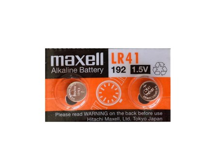 Maxell Battery Lithium Coin LR-41 Silver