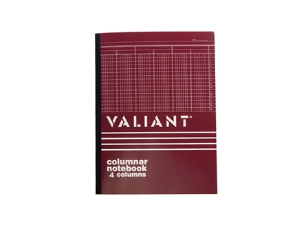 Valiant Columnar Book 4 Column 50 Leaves 216x280