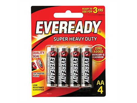 EVEREADY BATTERY 1215BP4 AA 4'S