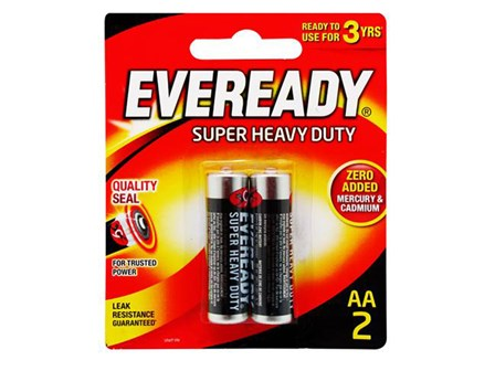 EVEREADY BATTERY 1215BP2 AA/2'S
