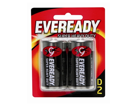 Eveready Battery 1250BP2 Black 2 pcs per pack