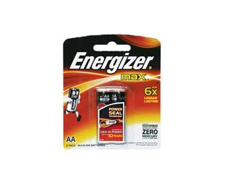 Energizer Battery E91/BP2 AA 2 pcs per pack