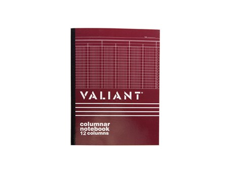 Valiant Columnar Book 12 Column 50 Leaves 216x280
