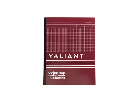 Valiant Columnar Book 5 Column 50 Leaves 216x280