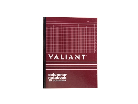 Valiant Columnar Book  10 Column 50 Leaves 216x280