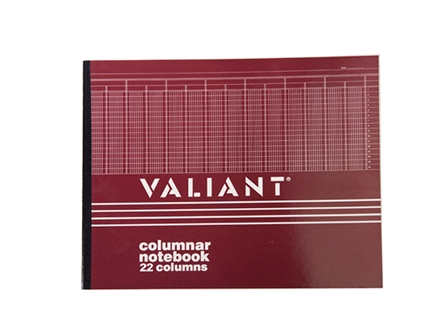 Valiant Columnar Book 22 Columns 50Lvs 280x355mm