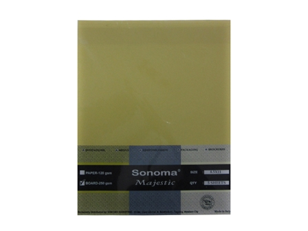 Sonoma - BOARD MAJESTIC 5'S 250gsm 10'S Letter M. Yellow