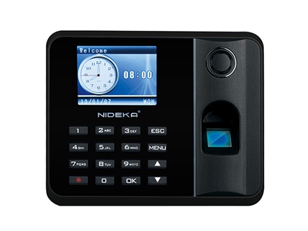 Nideka Bundy Clock TM2800D Fingerprint Black