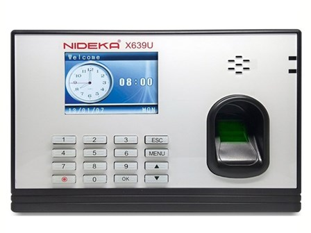 Nideka Bundy Clock X639 Network Biometrics