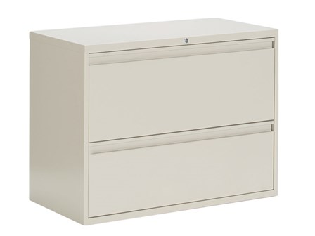 Filing Cabinet Lateral 2-Drawer J-LC002 Light Gray