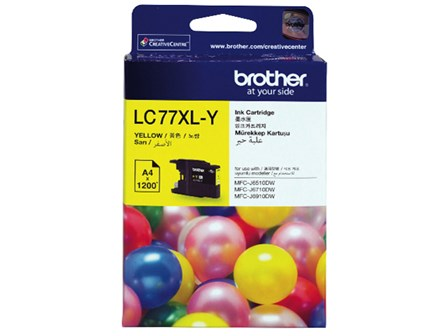 Brother Ink Cartridge LC-77XL Yellow