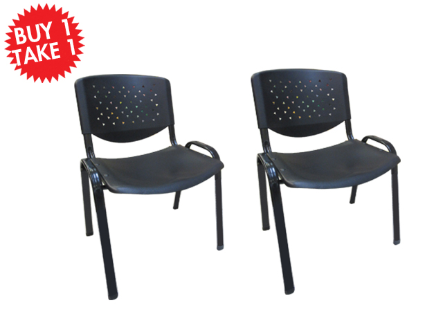 Buy One Take One Multi - Purpose Chair CF-304PL Black