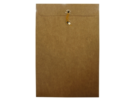 Click Catalog Envelope w/String 250L White/Kraft 10 x 15