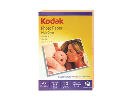Kodak Photo Paper Inkjet A3 230gsm High Glossy