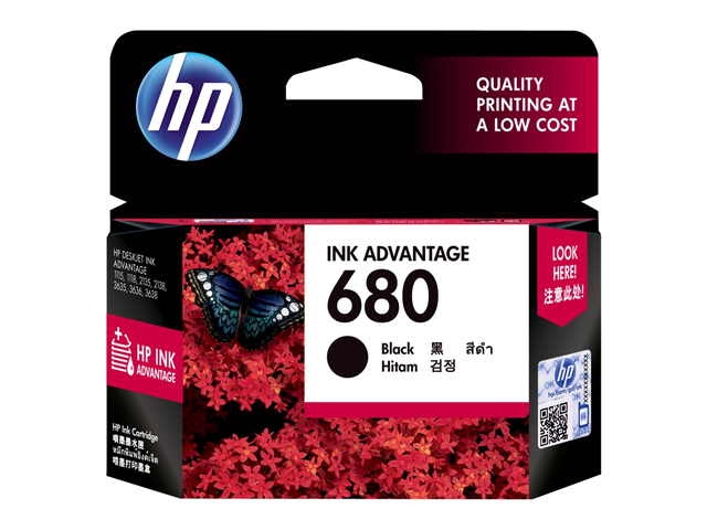 HP Inkcartridge 680 F6V27AA Black