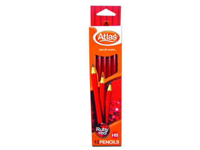 Atlas Pencil HB Ruby Red 12/box