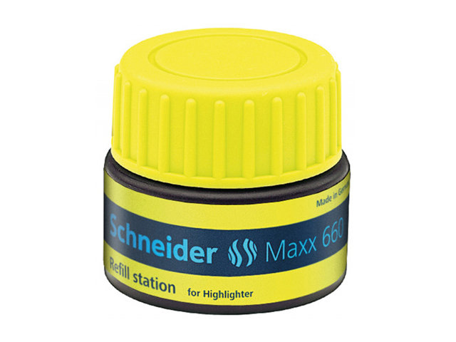 Schneider Max 660 Highlighter Refill Station Job 150 Yellow