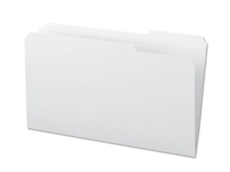 Office Warehouse Folder 14PTS White Legal