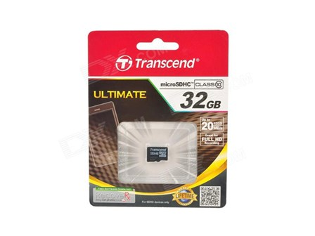 Transcend Micro SD Class10 Memory Card 32GB
