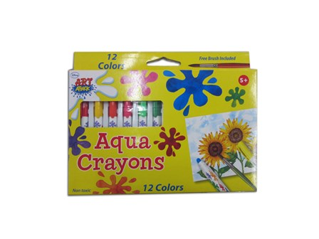 Art Attack Aqua Crayons 12 Colors