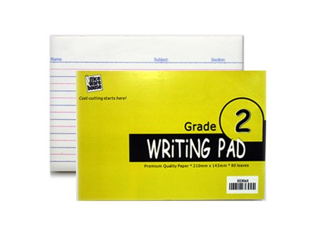 Office Warehouse Grade 2 Pad Paper w/Plastic 2/pack 80/Leaves