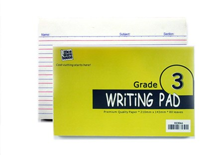 Office Warehouse Grade 3 Pad Paper w/Plastic 2/pack 80/Leaves