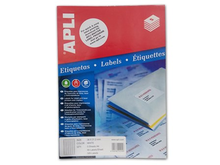 Apli Labels 38X21.1 65Labels