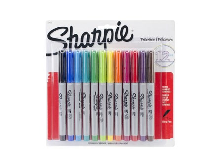 Sharpie Ultra Fine Point 12 Colors