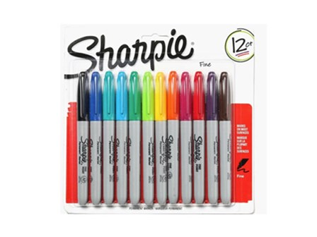 Sharpie Permanent Marker 12 Colors
